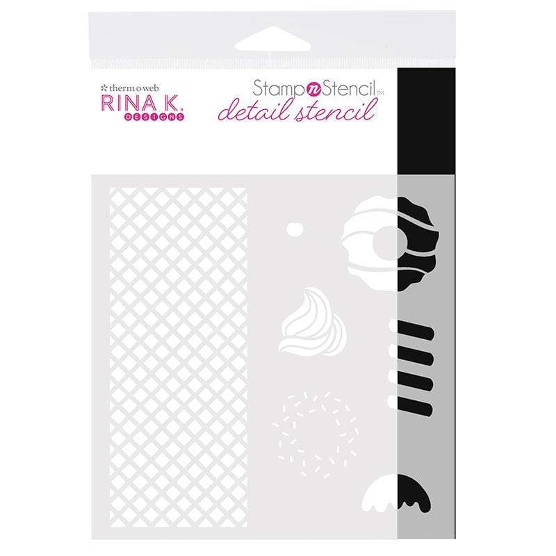 Therm O Web Rina K. Designs StampnStencil Detail Stencil, Sweet Stuff 18155