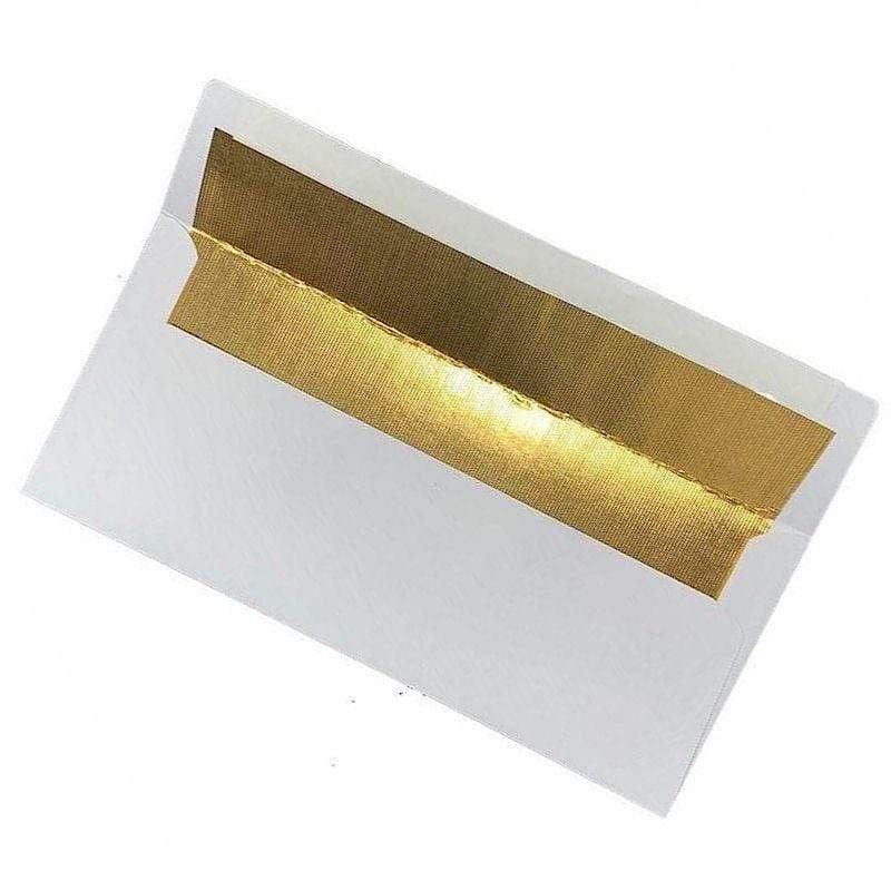 Therm O Web White w/Gold Foil Slimline Envelope 6 PK - PeelnStick Seal 5605