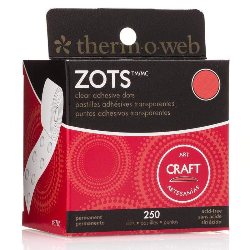 Therm O Web Zots Clear Adhesive Dots Roll 250 count, Craft Large 3785
