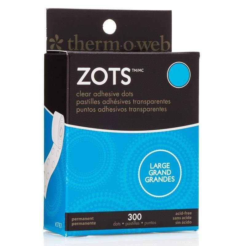 Therm O Web Zots Clear Adhesive Dots Roll 300 count, Large 3783