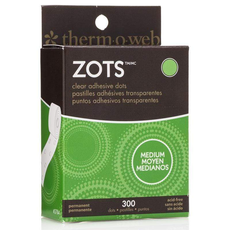 Therm O Web Zots Clear Adhesive Dots Roll 300 count, Medium 3784