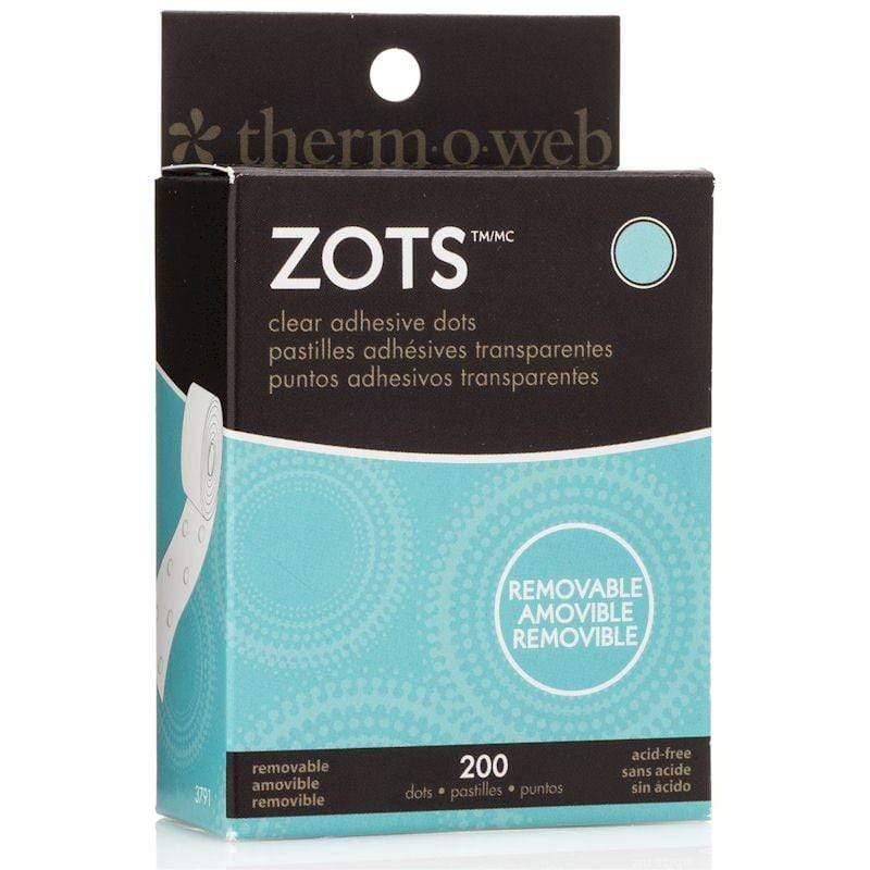Therm O Web Zots Clear Adhesive Dots Roll 300 count, Medium Removable 3791