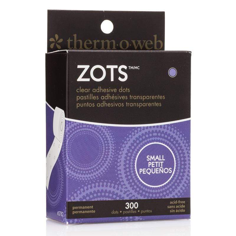 Therm O Web Zots Clear Adhesive Dots Roll 300 count, Small 3782
