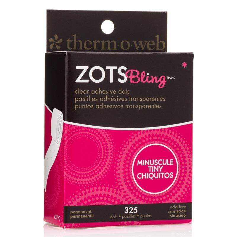 Therm O Web Zots Clear Adhesive Dots Roll 325 count, Bling 3770