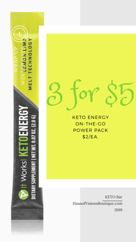 KETO Energy- 3 FOR $5