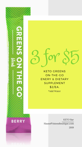KETO Greens on the GO! - 3 FOR $5