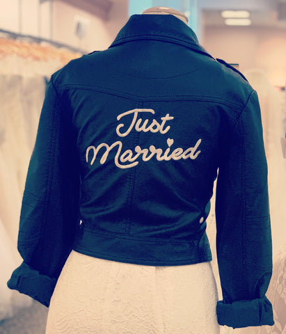 """Just Married"" Biker Jacket"