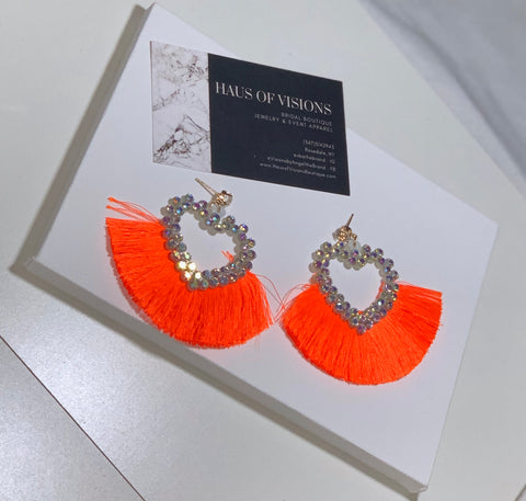 Tante Iridescent Fringe - Neon Orange
