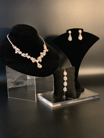 Ermias Bridal Necklace Set (3pcs)