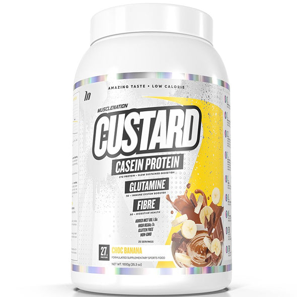 MUSCLE NATION Casein Custard TWIN Pack