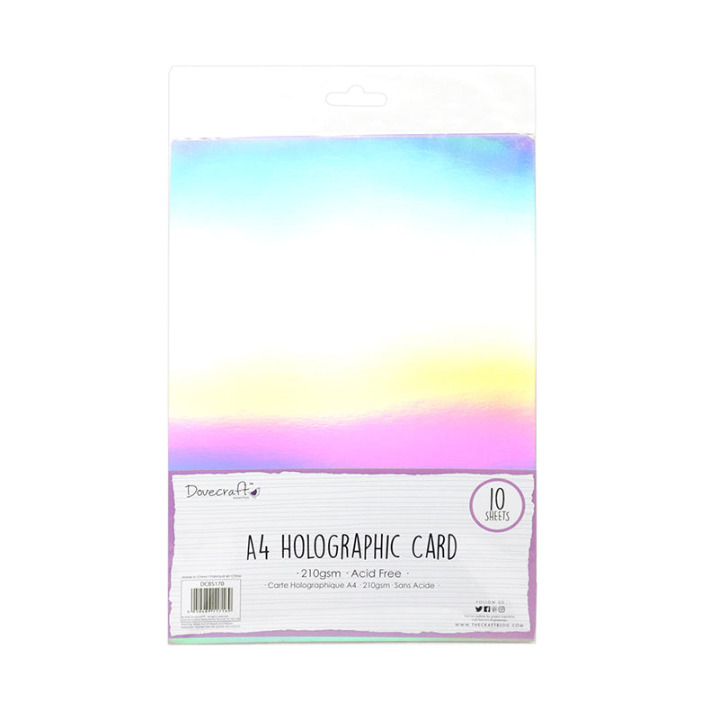 A4 Holographic Card - 10 Sheet Pack