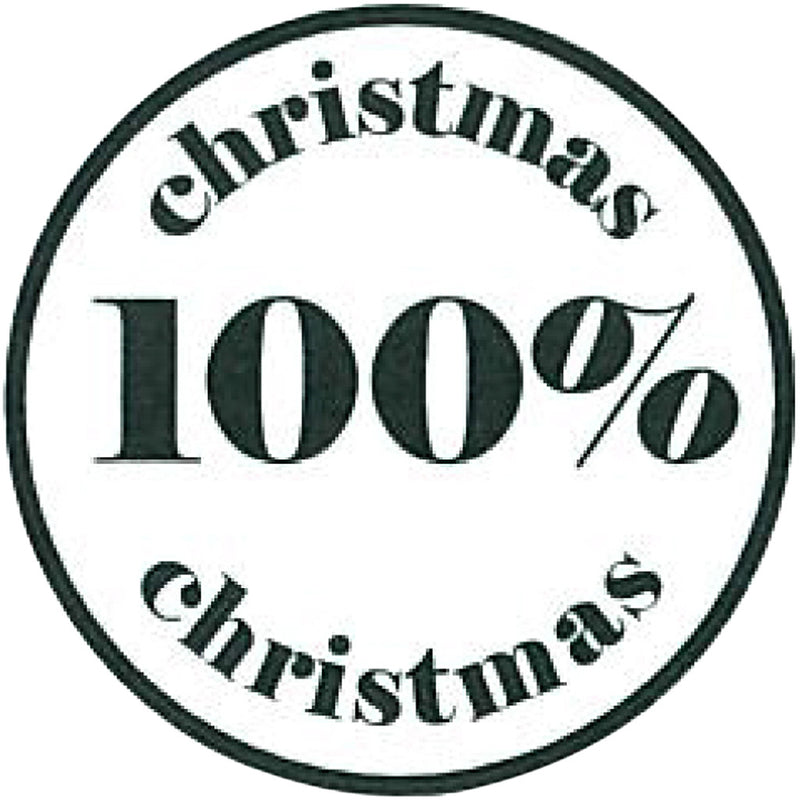 100% Christmas Wooden Stamp