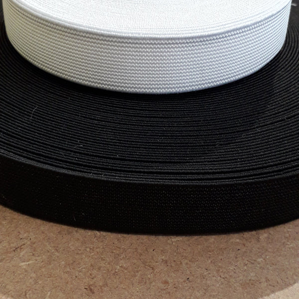 "25mm (1"") Flat Elastic - Sold Per Metre"