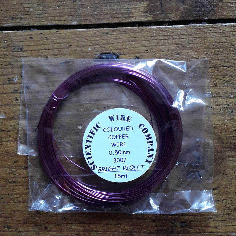 Coloured Copper Wire 0.50mm - 15 metres