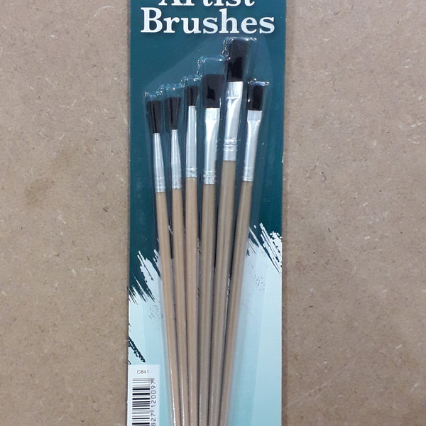 Set of 6 Assorted Paint Brushes
