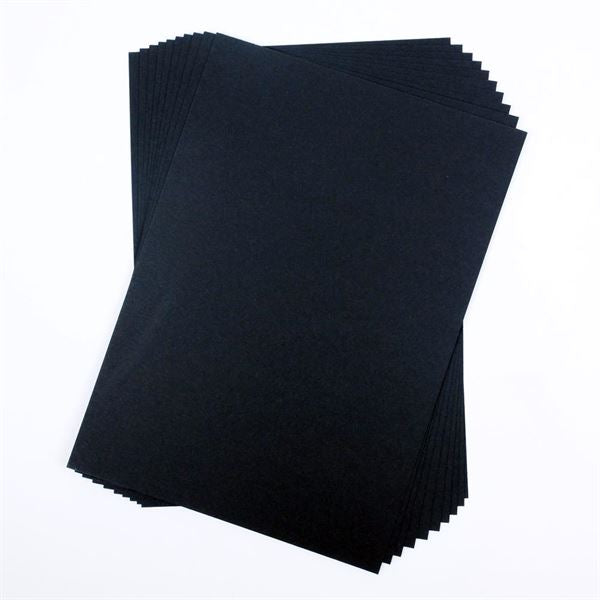 A4 Recycled Black Card Packs - 10 Sheets
