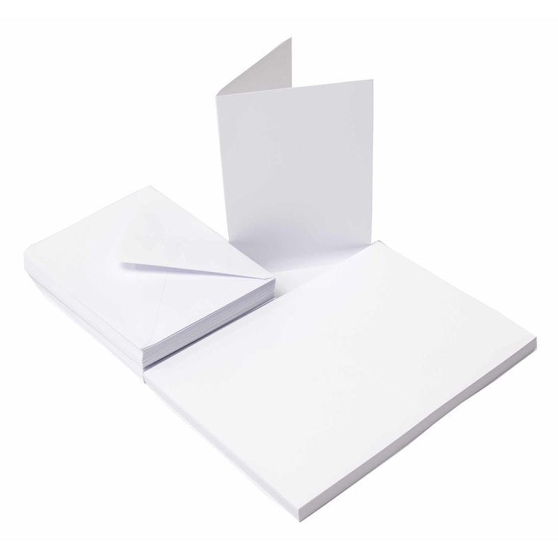 50 Pack Cards & Envelopes - C6 White