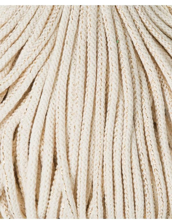 Bobbiny 5mm Macrame Recycled Cotton Rope Cord 100m Golden Natural