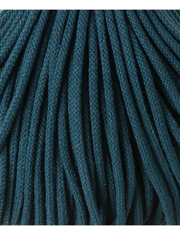 Bobbiny 5mm Macrame Recycled Cotton Rope Cord 100m Peacock Blue