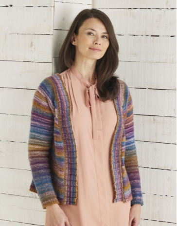 Sirdar Jewelspun Knitting Pattern - Top Down Cardigan