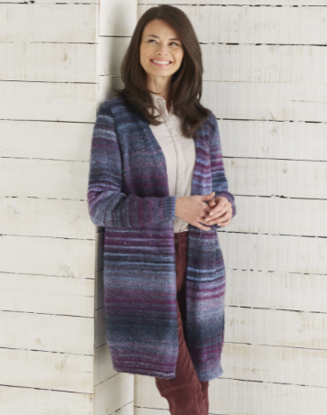 Sirdar Jewelspun Knitting Pattern - Long Line Jacket