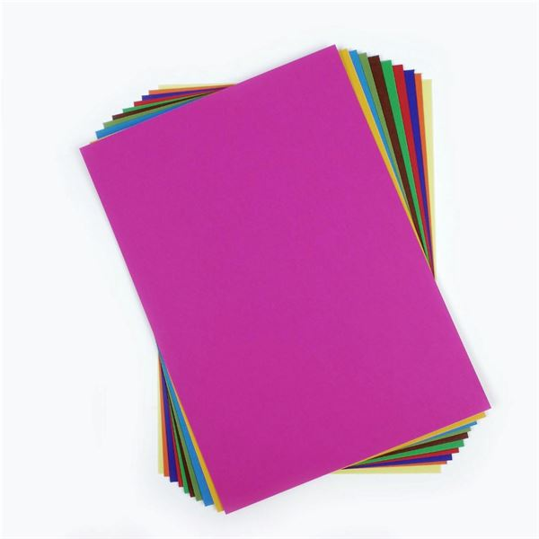 A4 Coloured Card 10 Sheet Pack