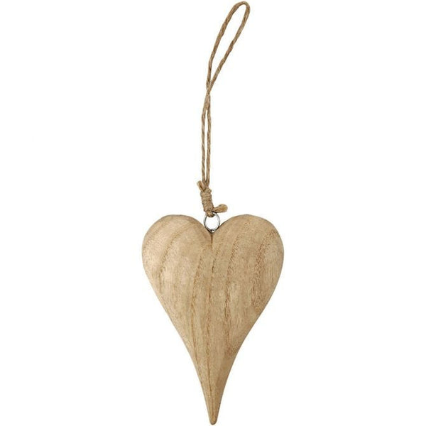Wooden Heart on Jute String - 15cm