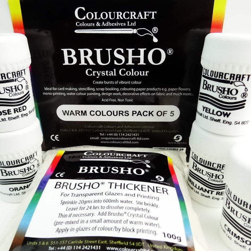 Brusho Warm Colours Pack - 5 x 15g