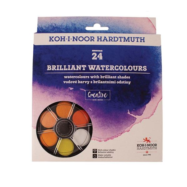 Koh-I-Noor Anilinky Brilliant Watercolours Disc Set