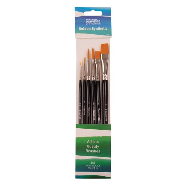 Golden Synthetic Brush Set - BS9