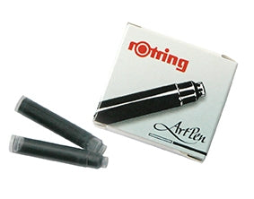 Rotring Artpen Cartridges - Packet of 6 Black
