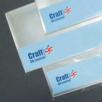 C6 Craft UK Resealable Clear View Bags - Pack of 50