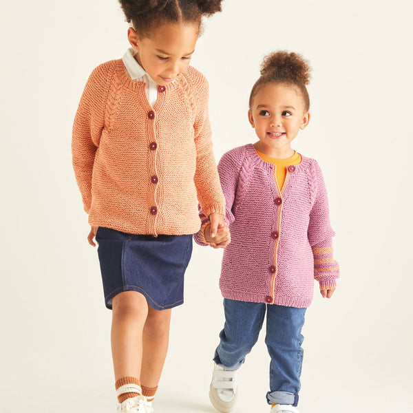 Kids Cable Raglan Cardigan 2530