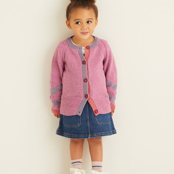 Kids Chevron Sleeve Cardigan 2543