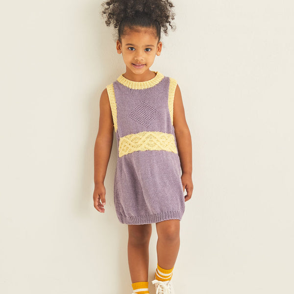 Kids Cable Sweater Dress 2544
