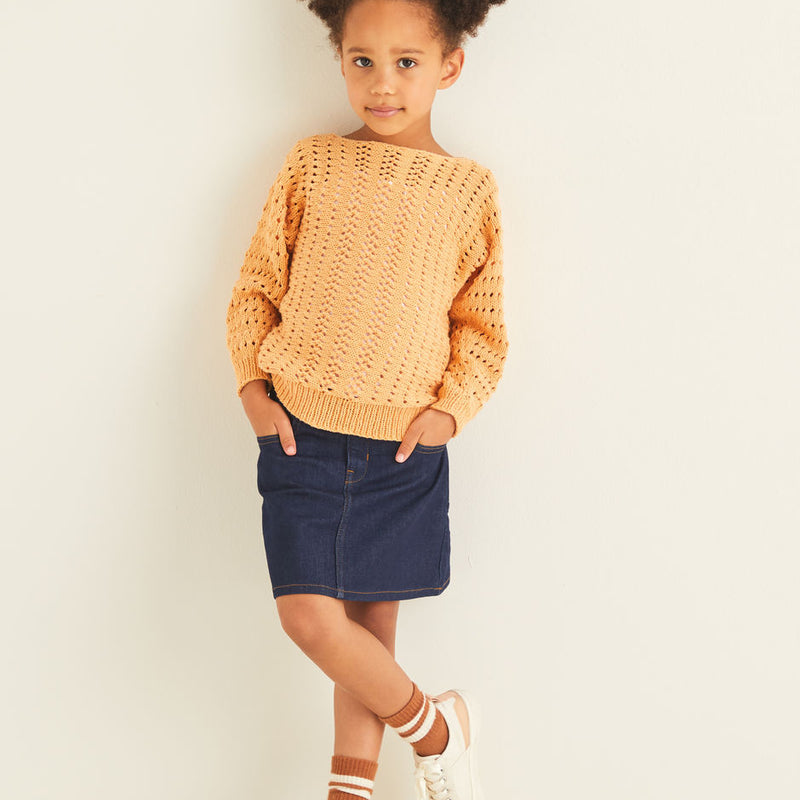 Kids Lacy Batwing Sweater 2548