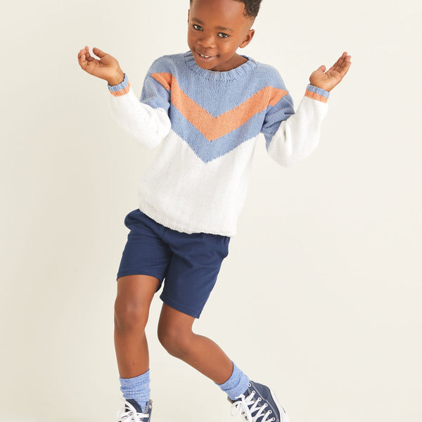 Kids Retro Chevron Sweater 2531