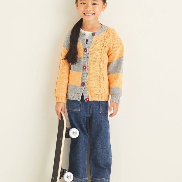 Kids Mismatched Cardigan 2532
