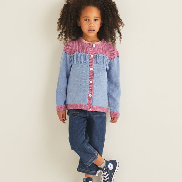 Kids Western Fringed Cardigan 2546