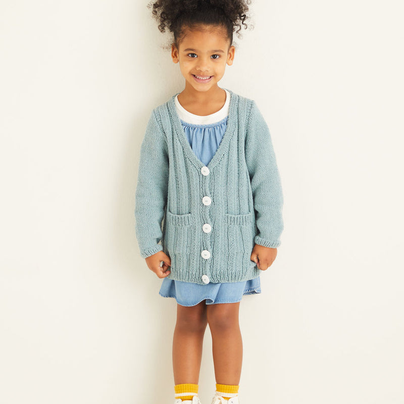 Kids Long Rib Cardigan 2533