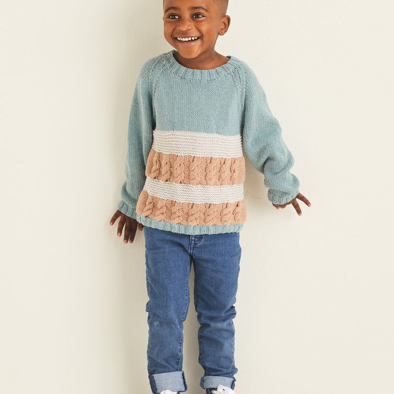 Kids Stitch & Stripes Sweater 2529