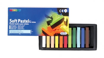 MUNGYO SOFT PASTELS - SET OF 12 ASSORTED COLOURS