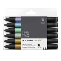 Winsor & Newton Promarker - Metallic set of 6