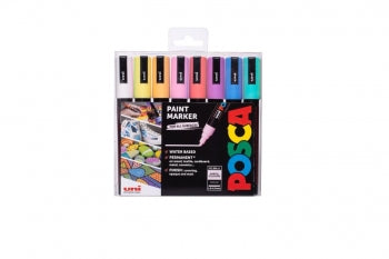 Posca Pen PC-5M 8PC PASTEL PACK