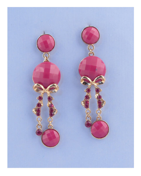 Faux stone chandelier earrings - Kendalls Deals