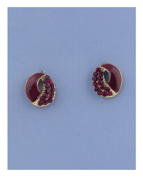 Round earrings w/rhinestone - Kendalls Deals