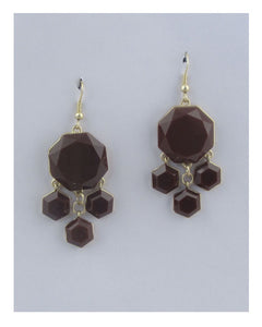 Drop hexagon earrings - Kendalls Deals