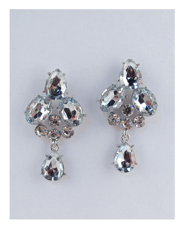 Faux crystal drop earrings - Kendalls Deals