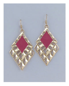 Drop colored triangle earrings - Kendalls Deals