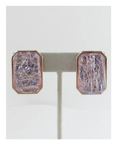 Faux stone rectangle earrings - Kendalls Deals